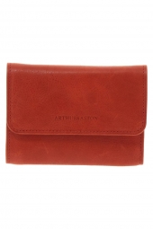 porte-cartes de credit arthur & aston 1252-171 brillant-souple rouge