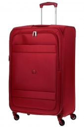 valise trolley delsey 3035821/78 ext-indiscrete soft rouge
