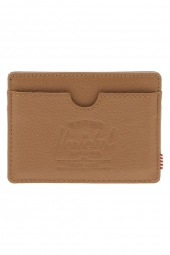 porte-cartes de credit herschel charlie leather marron