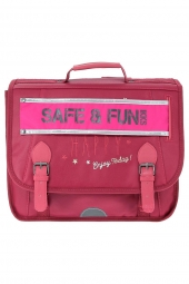 cartable pour fille ikks scolaire happy i5ha-ca38 bordeaux