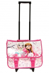 cartable trolley la reine des neiges 60526 cartable rose