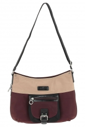 sac a main lancaster 504-89 basic & sport bordeaux