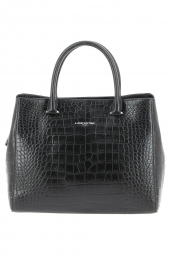 sac a main lancaster 526-69 exotic croco noir