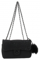 sac lollipops 23034-alume chain shoulder noir