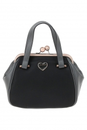 sac a main lollipops 22565-heart small frame noir