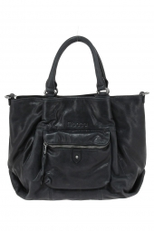sac a main moca by arthur&aston m1-08 faux bas volet noir