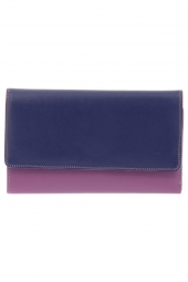 compagnon avec emplacement chequier mywalit 319-cheque book holder/wallet violet