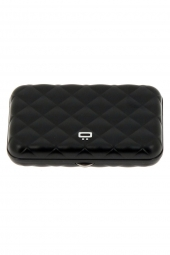 porte-cartes de credit ogon designs quilted button qb noir
