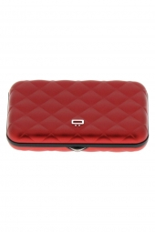 porte-cartes de credit ogon designs quilted button qb rouge