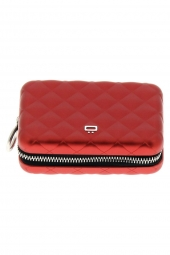 porte-cartes de credit ogon designs quilted zipper qz rouge
