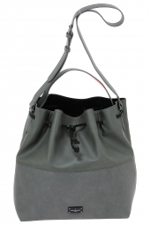 sac a main paul's boutique pbn 126 397 safiano+ grain� gris
