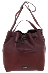 sac a main paul's boutique pbn 126 402 safiano+ grain� bordeaux
