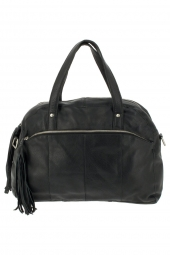 sac a main pieces 17057977-mylisia leather bag noir