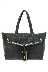sac a main pieces 17084036 pcpofo leather bag noir