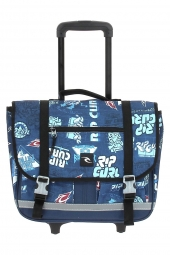 cartable trolley rip curl bbpjg4 heritage logo wh.satche bleu