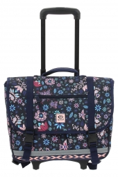 cartable trolley pour fille rip curl lbpne4 mandala wheely satchel bleu