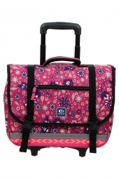 cartable trolley pour fille rip curl lbpne4 mandala wheely satchel rose