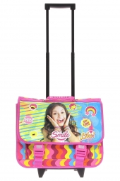 cartable trolley pour fille soy luna 60595 soy luna rose