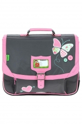 cartable pour fille tanns butterfly t5but-ca38 gris