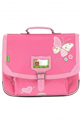 cartable pour fille tanns butterfly t5but-ca38 rose