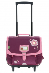 cartable trolley pour fille tanns collector t4cofl-trolley violet