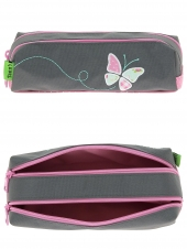trousse pour fille tanns butterfly t5but-t2 gris