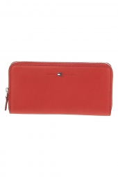 compagnon tommy hilfiger aw0aw03559-basic leather rouge