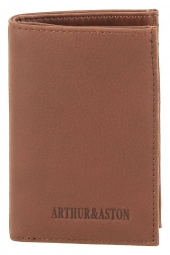 porte-cartes de credit arthur & aston 1978-119-grain? nubuck marron