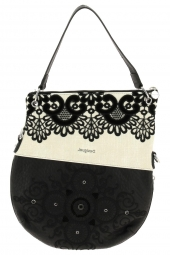 sac a main desigual 20saxaa1 black white floded noir