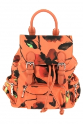 sac a dos fuchsia f9873-7 amandine-nylon orange