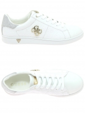 baskets mode guess baysic2/active lady/leather blanc