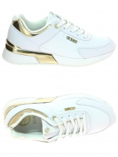 baskets mode guess marlyn/active lady leather l blanc