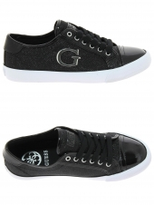chaussures plates guess elly noir