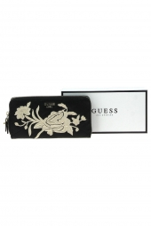 compagnon avec emplacement chequier guess heather slg cheque organizer noir