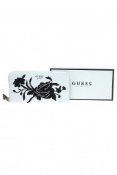 compagnon avec emplacement chequier guess heather slg cheque organizer blanc