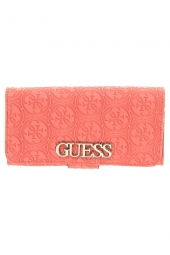 compagnon guess heritage pop slg file clutch orange