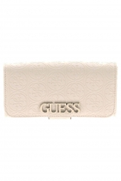 compagnon guess heritage pop slg file clutch blanc