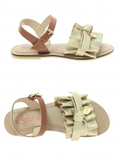 nu-pieds guess rouches or/bronze