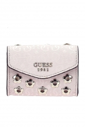 pochette organisateur de sac guess seraphina necklage pouch rose