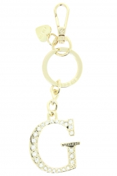 porte-cles guess not coordinated keychain or/bronze