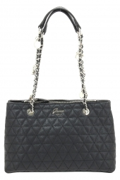 sac a main guess fleur girlfriend satchel noir