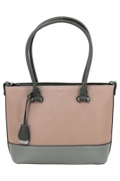 sac a main hexagona 505554-saffiano gris