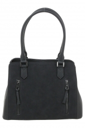 sac a main hexagona 525837 frequency + suedine noir