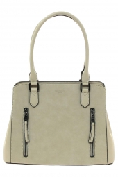 sac a main hexagona 525837 frequency + suedine beige