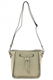 sac a main hexagona 525841 frequency + suedine beige