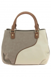 sac a main hexagona 526437  vague-bas volet beige