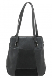 sac a main hexagona 715697-cuir patchwork noir