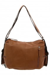 sac a main lea toni lara-made in italie marron