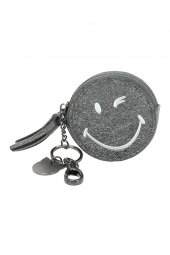 porte-monnaie lollipops 24142 smiley glitter purse noir