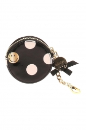 porte-monnaie porte-cle lollipops 24190 smiley polka purse noir